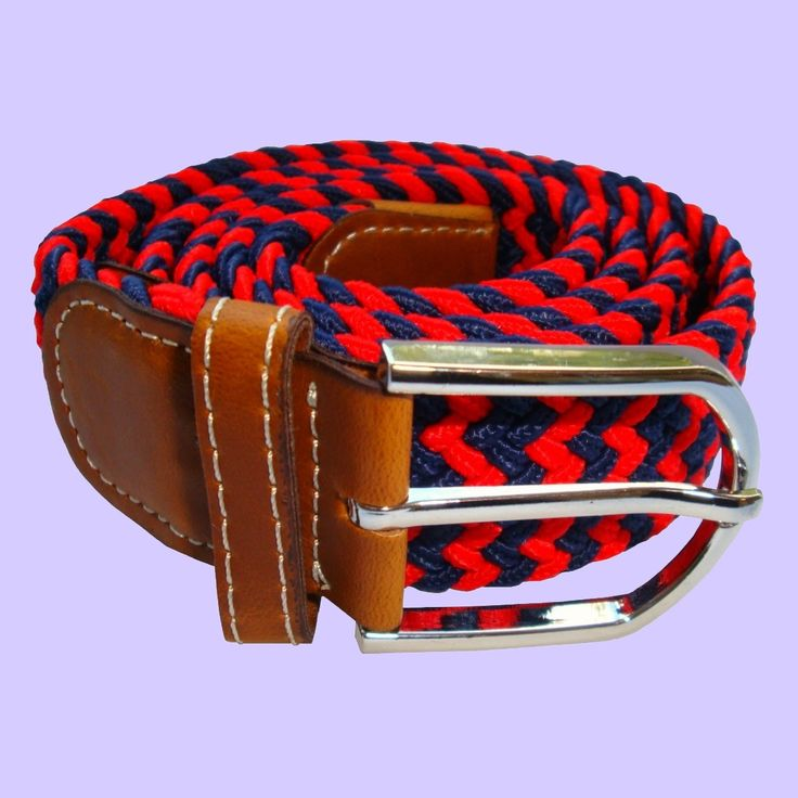 Bassin and Brown Woven Belt Collection - Stripe Elasticated Woven Fabric - Silver Toned Buckle Belt - Navy/Red http://www.bassinandbrown.com/belts/stripe-elasticated-woven-fabric-silver-toned-buckle-belt-navy-red.html