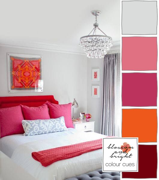Bright And Bold Guest Bedroom: Blossom And Bright