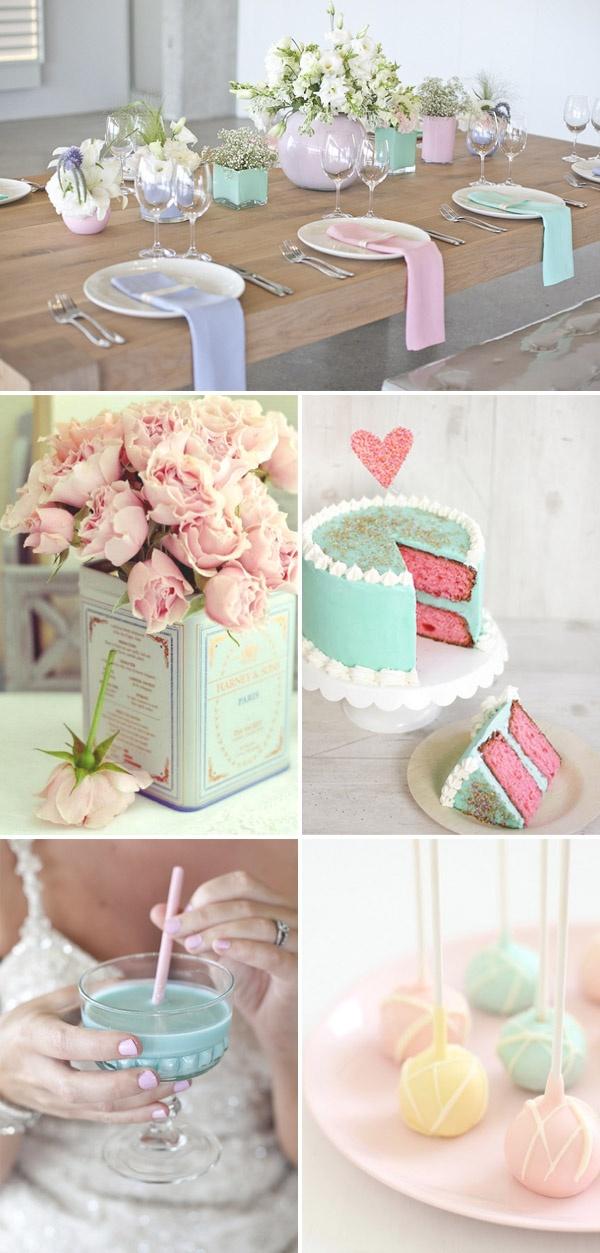 Colores pastel para una boda en primavera #boda #decoración