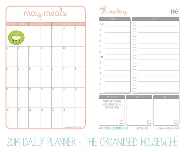 Best Printables Images On   Organised Housewife