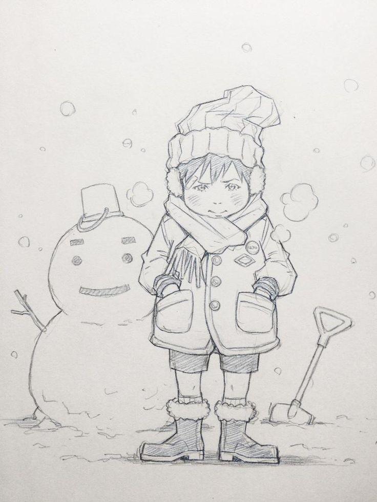 겨울  /  눈사람  /  어린아이
