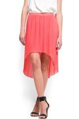 Mango Tail Hem Pleated Skirt