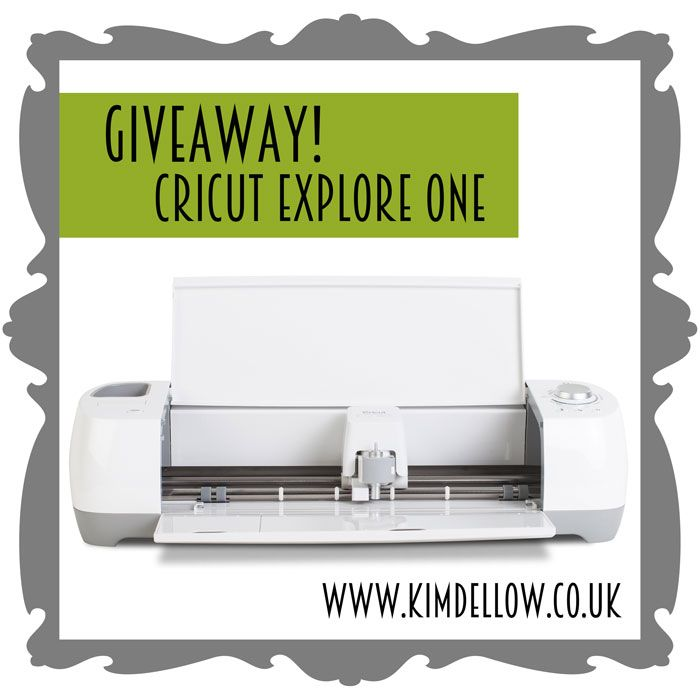 Time for a giveaway! A Cricut Explore One is up for grabs.