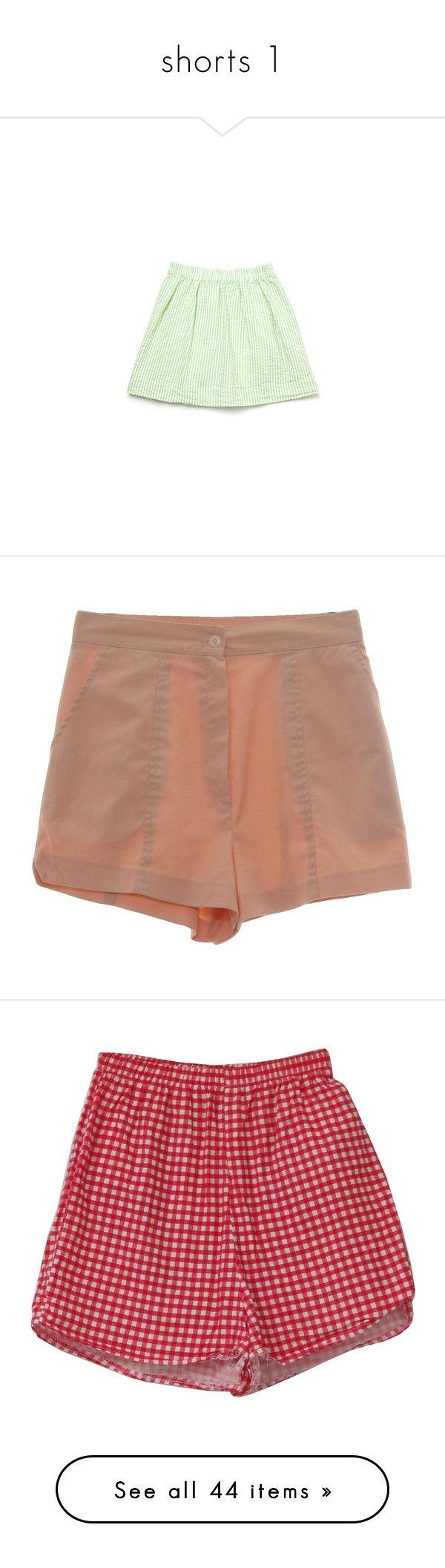 """""""shorts 1"""" by analufs1 on Polyvore featuring skirts, bottoms, saias, clothing - skirts, women, steven alan, elastic waist skirt, green skirt, seersucker skirt e shorts"""