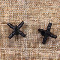 """Vijf-head connectors voor micro tubing 3mm, 5mm (1/8 """") barb connector druppelirrigatie fitting nr 5135"""