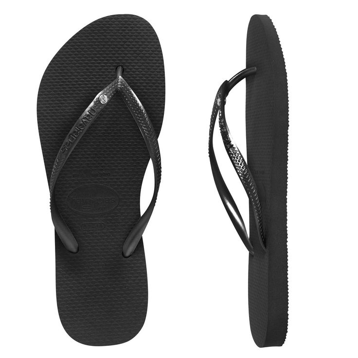 Slim Crystal Black Havaianas ($39.99 with FREE Shipping) Size 35-36 please
