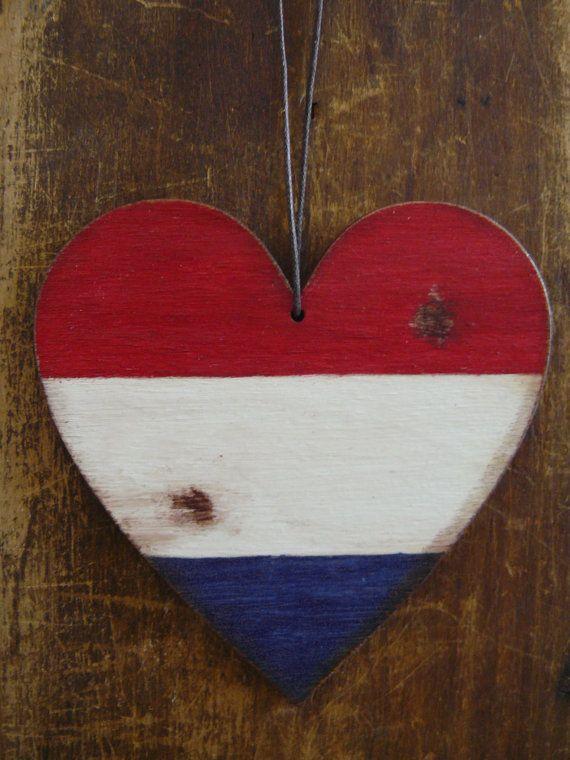 Dutch flag flag of Netherlands car decoration home by BalticWoods