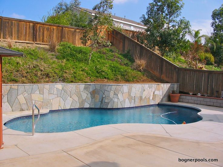 Retaining Wall Pool Backyard Dreams Pinterest