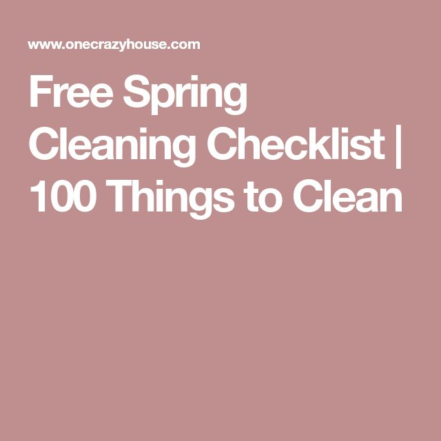 Best  Spring Cleaning Checklist Ideas On   Spring