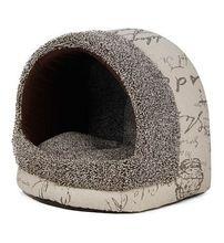 Nieuwe vintage huisdier hond kat huis warm zacht bed kat bed tent huis kennel grijs maat s, m, l(China (Mainland))