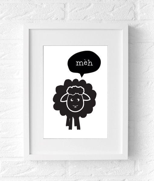 sheep poster kids poster kinderkamer interieur