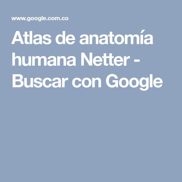 Atlas de anatomía humana Netter - Buscar con Google