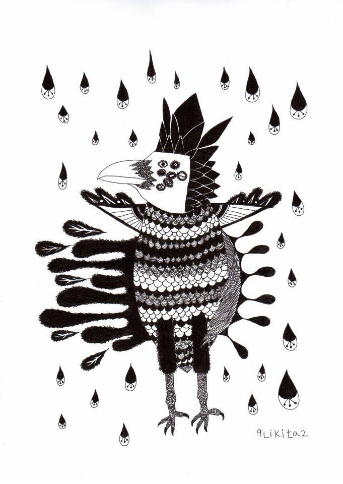 fish carrion crow  #draw #drawing #painting #doodle #illust #illustration #artwork #penillust