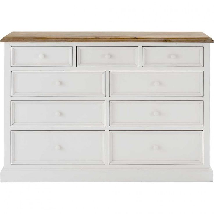 Mansfield 9 Drawer Chest White