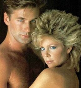 """Lisa Hartman Black, """"Ciji"""" on Knot's Landing had the ultimate 1980's mullet hairstyle.  Who knows how many hours I spent trying to make my hair stand up like this!"""