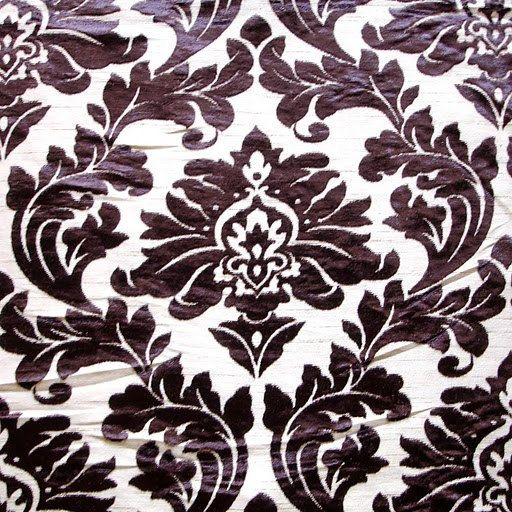 Floral Damask  Burnout Velvet on Fancy Fabric by FabricMart, $10.60