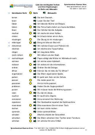 Die 25 Besten Verben Mit Dativ Ideen Auf Pinterest Learning German Learn German Language Und