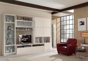 parete attrezzata per soggiorno moderna / in legno