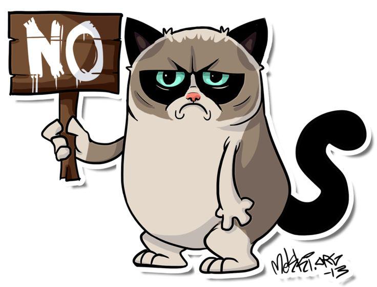 clipart grumpy cat - photo #24