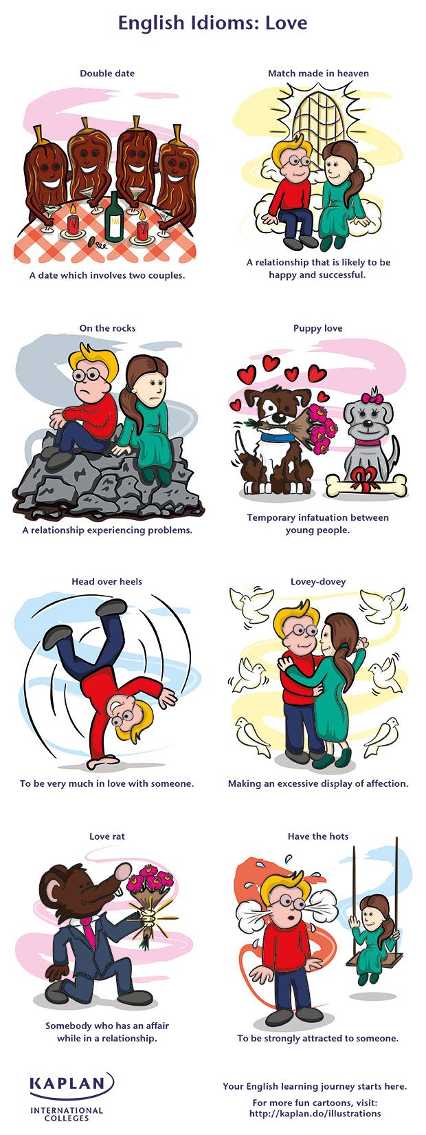 English Idioms: Love - Kaplan International Colleges Blog - repinned by @PediaStaff – Please Visit ht.ly/63sNt for all our ped therapy, school & special ed pins