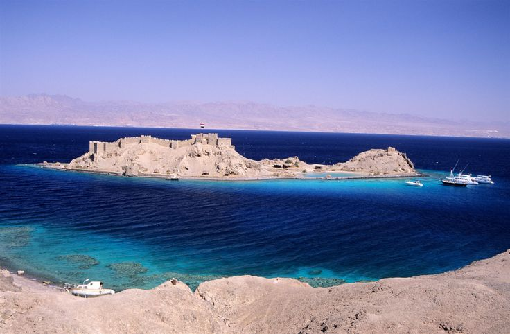 Pharaoh Island, near Taba in the northern Gulf of Aqaba, off the shore of Egypt's eastern Sinai Peninsula.