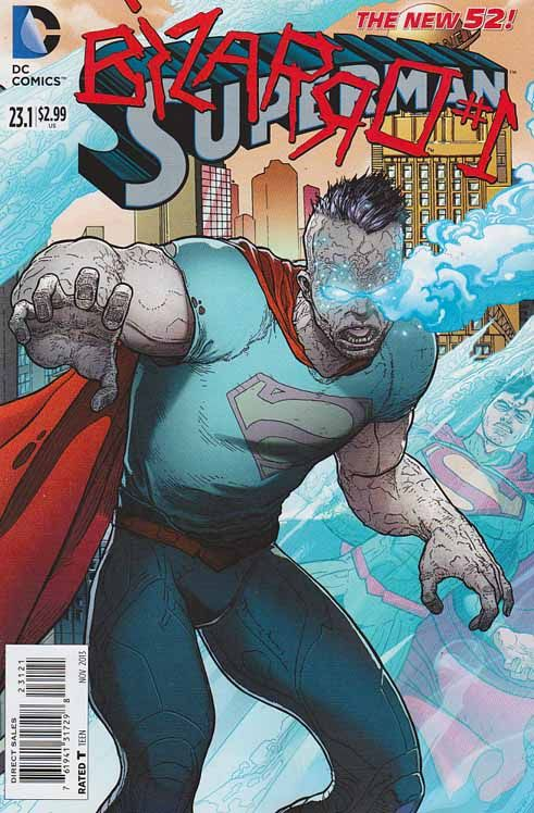 Superman Vol3 #23.1 Bizarro #1. Standard Cover. Lex Luthors' sinister plan to manipulate Superman's genetic material to create a mindless soldier under his control results in the monster known as Bizarro: opposite of Superman in every way, with no compassion, no remorse and no mercy!  #superman #bizarro #dccomics #comicbooks