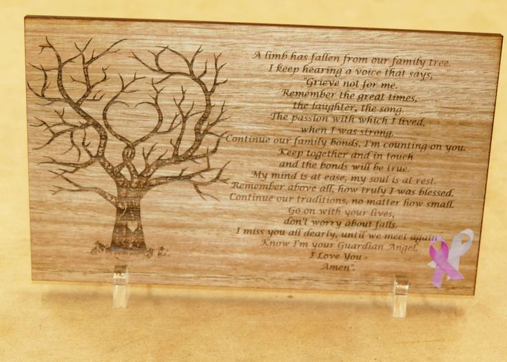 Memorial plaque Australian blackwood engraved and colour printed