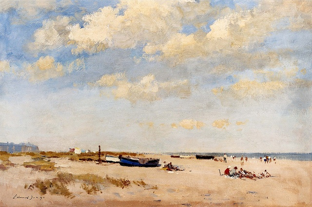 Edward Seago - On the Beach at Great Yarmouth