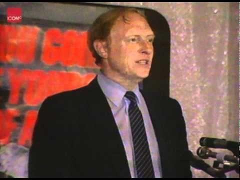 Neil Kinnock giving his Election speech about life under Thatcher