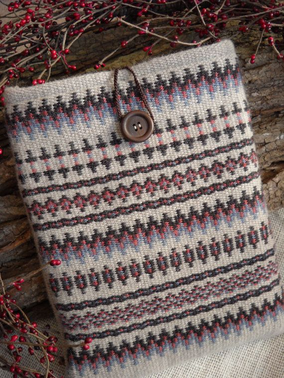 Handwoven Tablet Cover  Woven iPad Case  by LokenLoomWeaving, $42.00