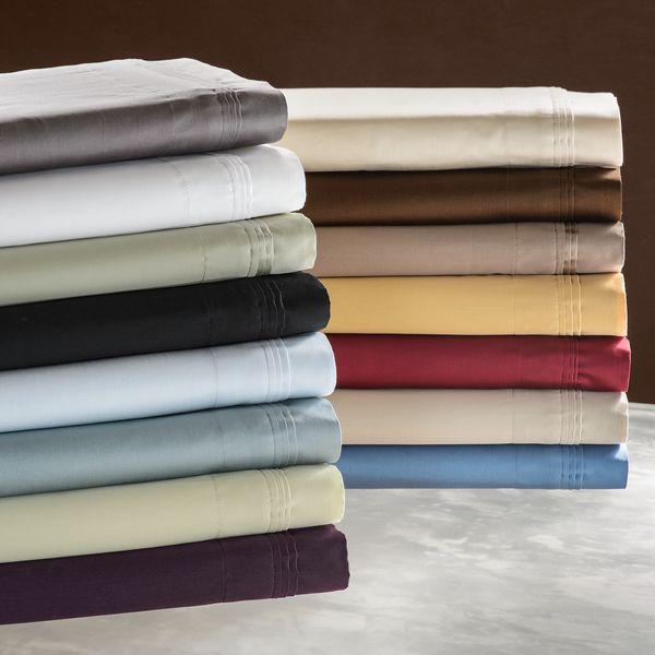 Luxor Treasures Solid Egyptian Cotton 650 Thread Count Split King Sheet Set