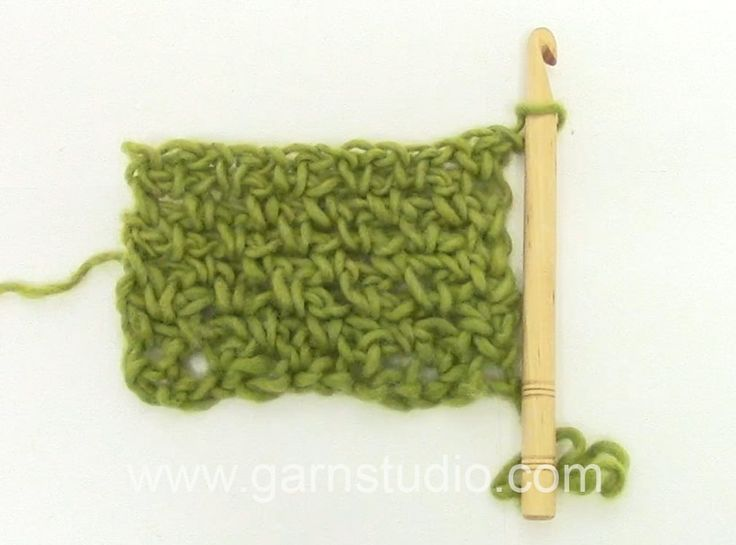 DROPS Crochet Tutorial: How to work woven crochet stitch