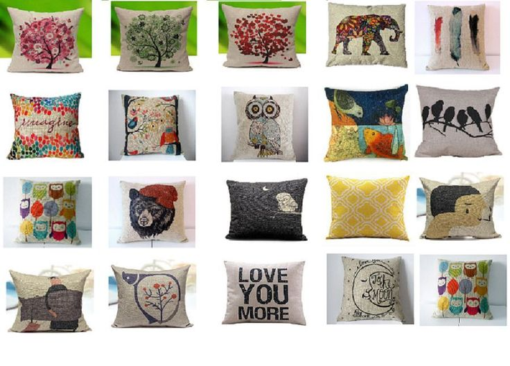 Decorative Throw Pillow Home Decor Pillows Cushion Cover Sofa Cotton Vintage #Unbranded