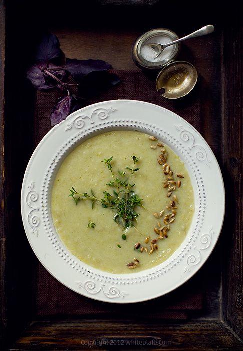 White Plate: Fennel soup.