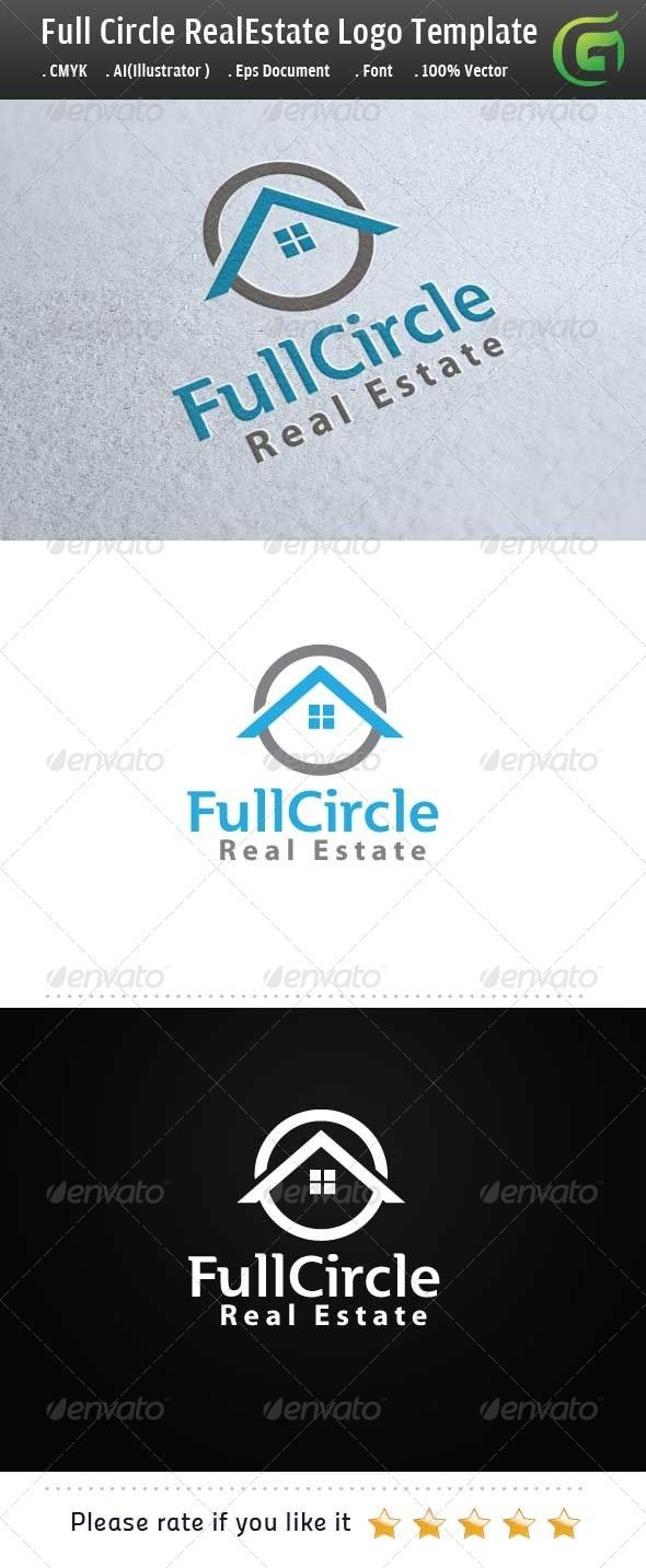 43 best real estate logos images on pinterest real estate logo full circle real estate logo design template vector logotype download it here http