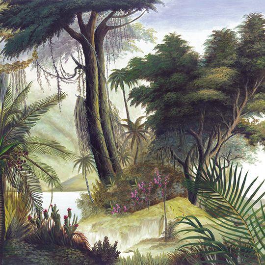 Paysages colorés - Les Sources de l'Orénoque couleur L900xH270 - Ultra mat - 9 lés de 100cm