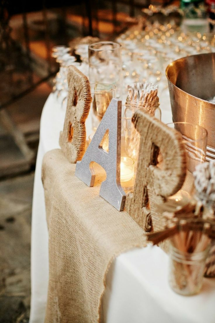 Decoración para una boda al aire libre, estilo rústico   La Boda de María