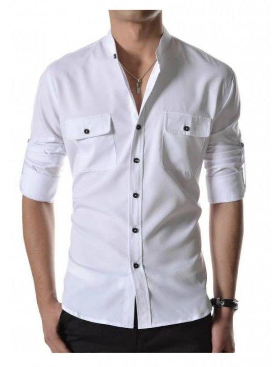 Casual White Shirt Mens | Artee Shirt