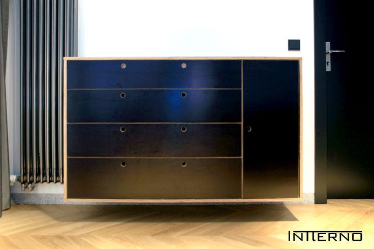 komoda wisząca ze sklejki Intterno plywood furniture  #Intterno #plywoodcupobard