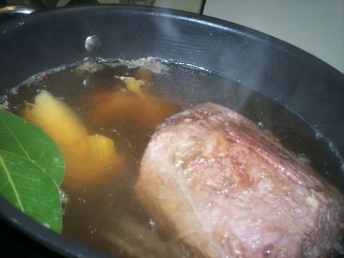 July Challenge 29 - nice flavours. Worked well. Original pin How to cook perfect corned silverside