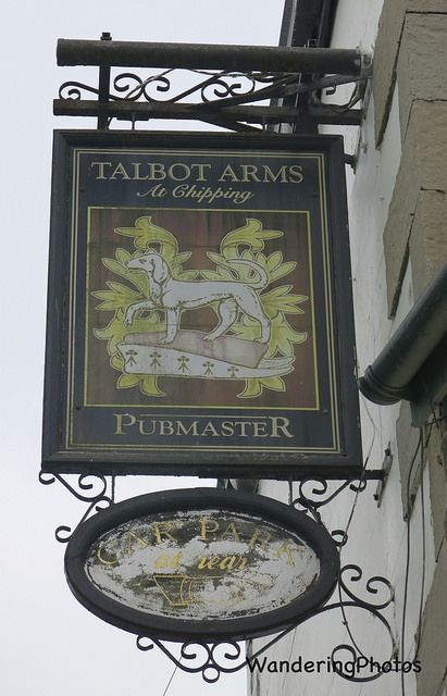 Pub sign for the Talbot Arms - Chipping Clitheroe Lancashire England.