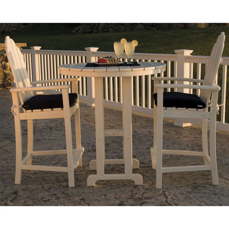 POLYWOOD Adirondack Counter Chairs | All Weather Outdoor Furniture | Recycled  Plastic Faux Wood | USA