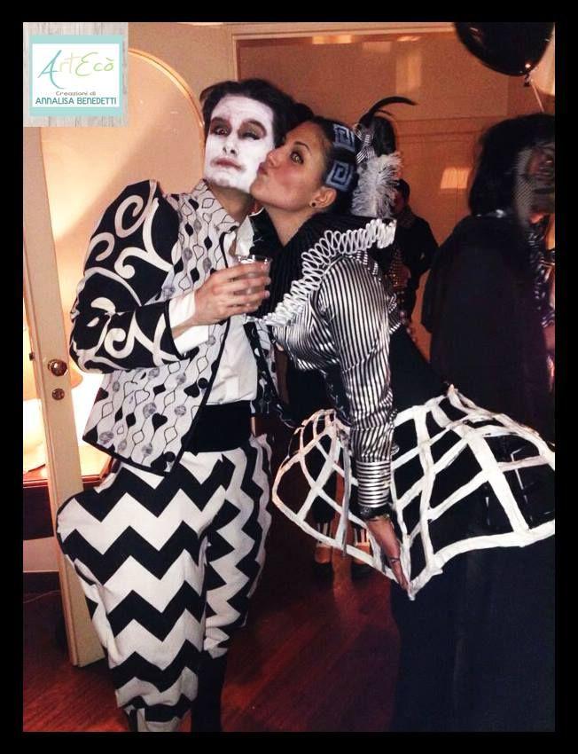 OPTICAL BLACK&WHITE Style By ArtEcò Creazioni di Annalisa Benedetti for Carnival Party  #artecocreazioni #annalisabenedetti #optical #style #blackwhite #carnival #fantasy #opticalstyle #circus