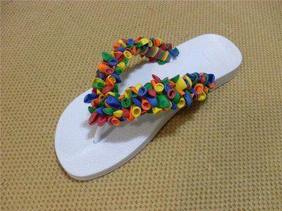 chanclas mujer globos multicolor