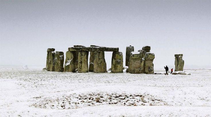 Stonehenge in Snow