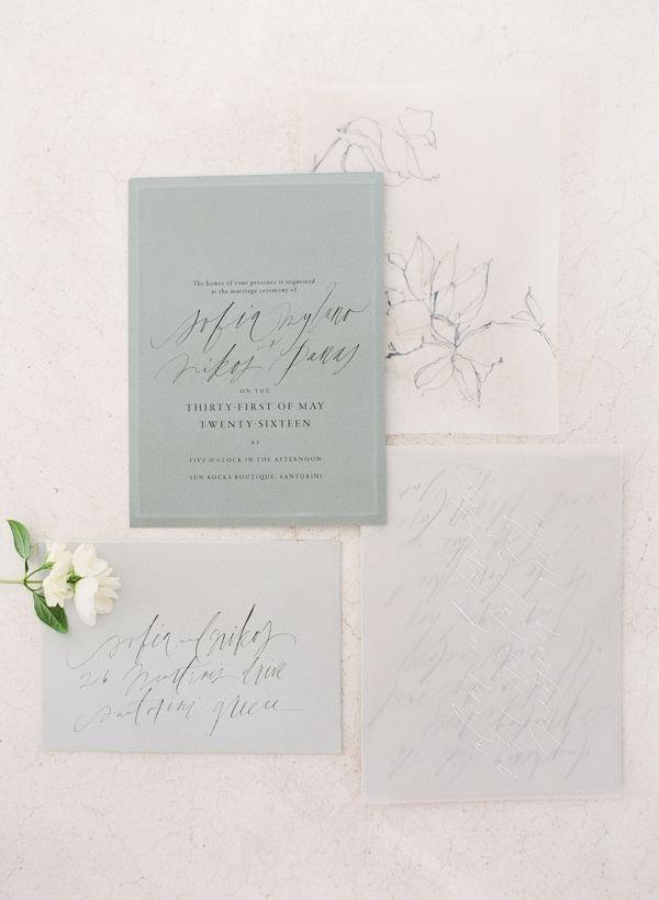 Calligraphy Stationery designed by Tara Spencer | Vasia Han Photography