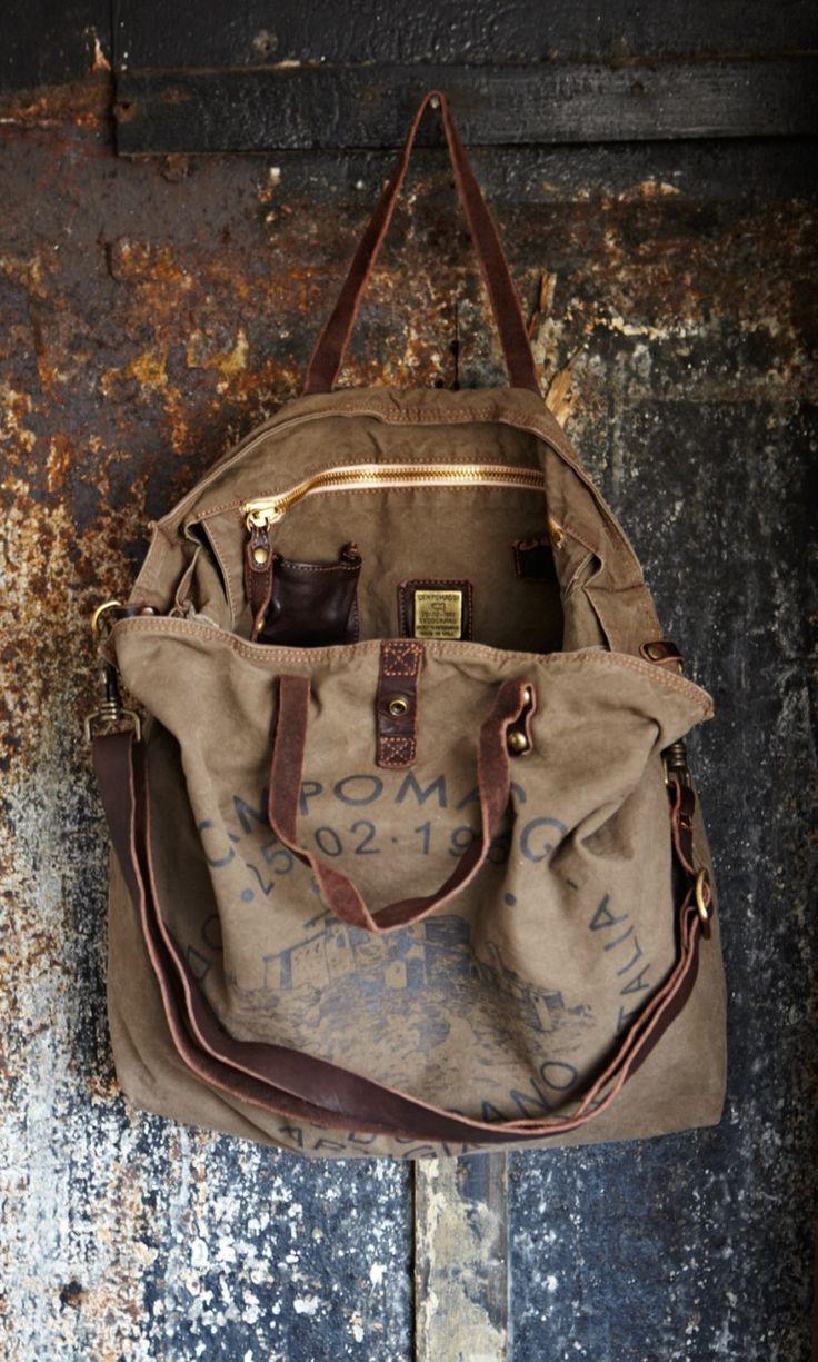 Vintage printed bag.