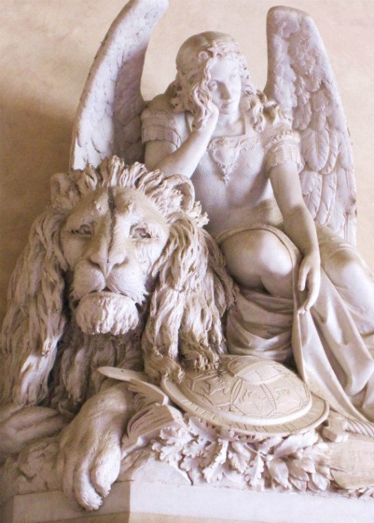 Angel and The Lion Florence Firenze Italy by IntoTheBluePaintShop