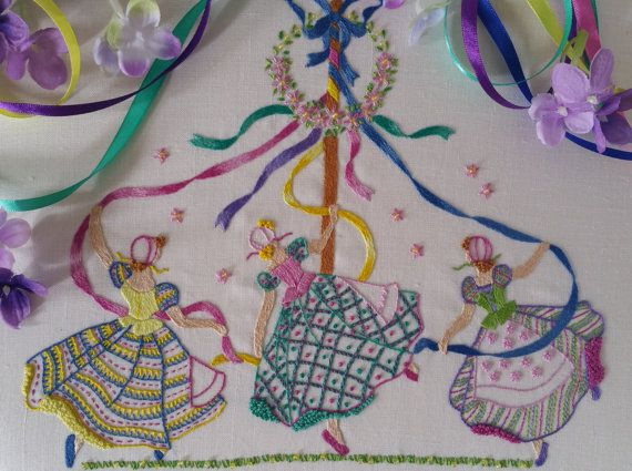 Transfer Embroiderey Kit : May DayNEW by MaggieGeeNeedlework