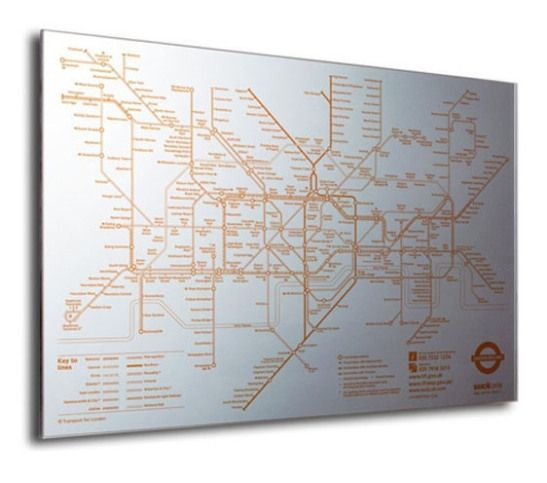 Suck UK Tube Map Mirror - London Underground